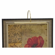 "APR16-61 House of Troy Advent Profile 16"" Polished Brass Picture Light"