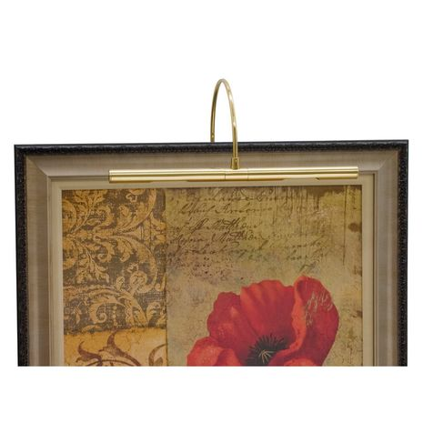 """APR16-61 House of Troy Advent Profile 16"""" Polished Brass Picture Light"""