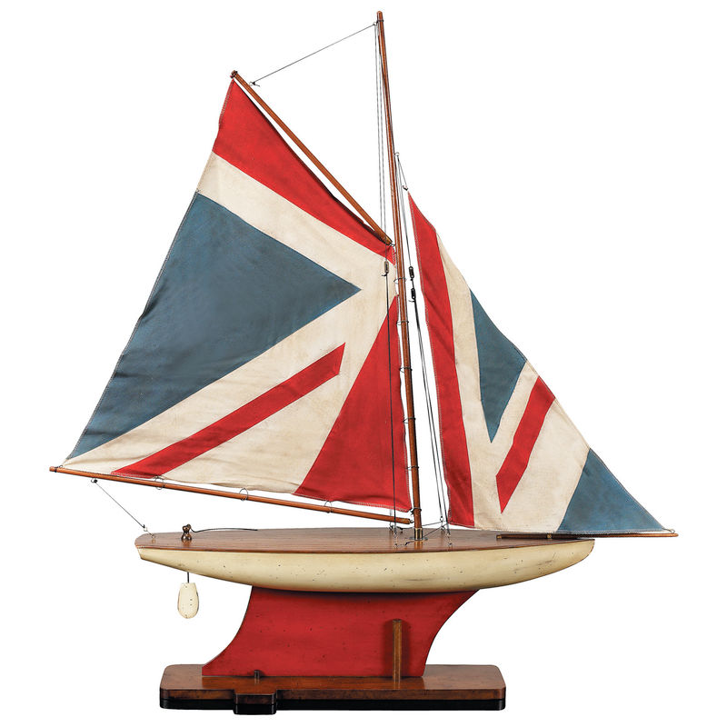 AS051 Authentic Models Sewn and Hand Finished Sails Union Jack Pond Yacht