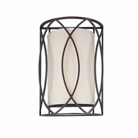 B1289DB Troy Hand-Worked Iron Interior Sausalito 2Lt Wall Sconce with Deep Bronze Finish