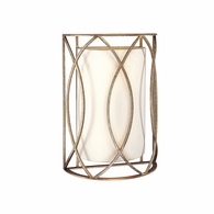 B1289SG Troy Hand-Worked Iron Interior Sausalito 2Lt Wall Sconce with Silver Gold Finish