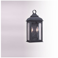 B2010CI Troy Hand-Worked Iron Exterior Henry Street 2Lt Pocket Lantern Small with Colonial Iron Finish