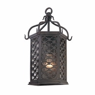 B2371OI Troy Hand-Worked Iron Exterior Los Olivos 1Lt Pocket Lantern Small with Old Iron Finish