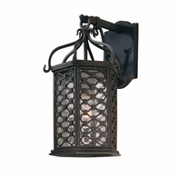 B2372OI Troy Hand-Worked Iron Exterior Los Olivos 1Lt Wall Lantern Small with Old Iron Finish