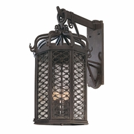B2374OI Troy Hand-Worked Iron Exterior Los Olivos 4Lt Wall Lantern Large with Old Iron Finish