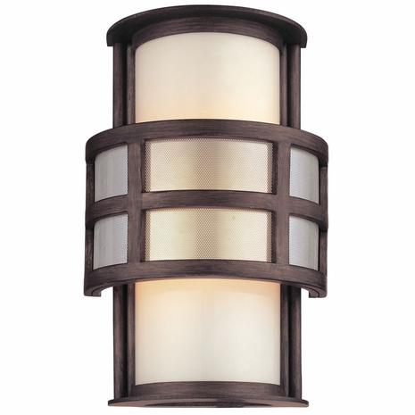 B2731 Troy Hand-Worked Iron Exterior Discus 1Lt Wall Lantern Small with Graphite Finish
