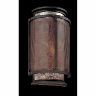 B3101 Troy Hand-Worked Iron Interior Copper Mountain 2Lt Wall Sconce with Copper Mountain Bronze Finish
