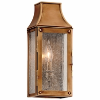 B3420 Troy Solid Brass Exterior Beacon Hill 1Lt Wall Lantern Tall with Heirloom Brass Finish