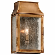 B3421 Troy Solid Brass Exterior Beacon Hill 1Lt Wall Lantern Small with Heirloom Brass Finish