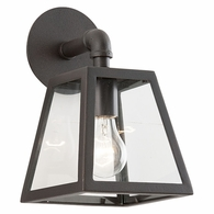 B3431-C Troy Hand-Worked Iron Exterior Amherst 1Lt Wall Lantern Small with River Valley Rust Finish