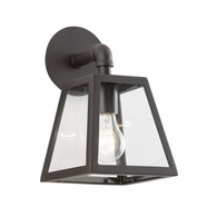 B3431 Troy Hand-Worked Iron Exterior Amherst 1Lt Wall Lantern Small with River Valley Rust Finish