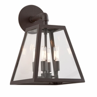 B3433 Troy Hand-Worked Iron Exterior Amherst 4Lt Wall Lantern Large with River Valley Rust Finish