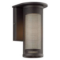 B3741BZ Troy Solid Aluminum Exterior Hive 1Lt Wall Sconce Small with Bronze Finish