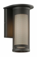 B3741MB-C Troy Solid Aluminum Exterior Hive 1Lt Wall Sconce Small W/Coastal Finish with Matte Black Finish