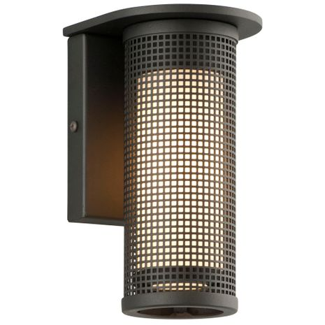 B3741MB Troy Solid Aluminum Exterior Hive 1Lt Wall Sconce Small with Matte Black Finish
