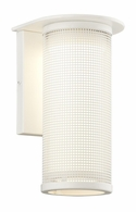 B3741WT-C Troy Solid Aluminum Exterior Hive 1Lt Wall Sconce Small W/Coastal Finish with Satin White Finish