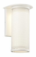 B3741WT Troy Solid Aluminum Exterior Hive 1Lt Wall Sconce Small with Satin White Finish