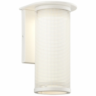 B3742WT Troy Solid Aluminum Exterior Hive 1Lt Wall Sconce Medium with Satin White Finish