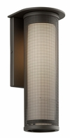 B3743BZ-C Troy Solid Aluminum Exterior Hive 1Lt Wall Sconce Large W/Coastal Finish with Bronze Finish