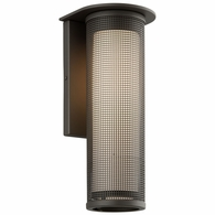 B3743BZ Troy Solid Aluminum Exterior Hive 1Lt Wall Sconce Large with Bronze Finish