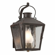 B3761NR Troy Solid Brass Exterior Nantucket 1Lt Wall Lantern Small with Natural Rust Finish