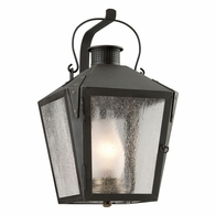 B3762CI Troy Solid Brass Exterior Nantucket 1Lt Wall Lantern Medium with Charred Iron Finish