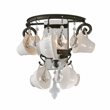 B3821 Troy Exterior Barista 1Lt Wall Sconce with Vintage Bronze Finish
