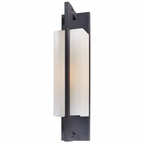 B4015FI Troy Hand-Worked Iron Exterior Blade 1Lt Wall Bracket Large with Forged Iron Finish