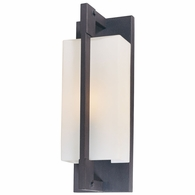 B4017FI Troy Hand-Worked Iron Exterior Blade 1Lt Wall Bracket Small with Forged Iron Finish