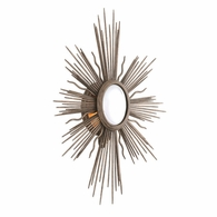 B4131 Troy Hand-Worked Iron Interior Blink 1Lt Wall Sconce with Light Cottage Bronze Finish