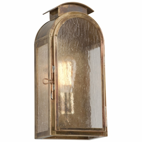 B4401HBZ Troy Solid Brass Exterior Copley Square 1Lt Wall Small with Historic Brass Finish