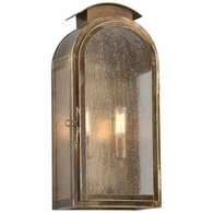 B4402HBZ Troy Solid Brass Exterior Copley Square 2Lt Wall Medium with Historic Brass Finish