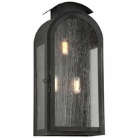B4403CI Troy Solid Brass Exterior Copley Square 3Lt Wall Large with Charred Iron Finish
