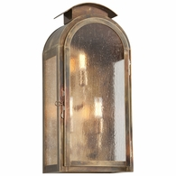 B4403HBZ Troy Solid Brass Exterior Copley Square 3Lt Wall Large with Historic Brass Finish