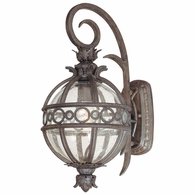 B5001CB Troy Hand-Worked Iron And Aluminum Exterior Campanile 1Lt Wall Lantern Small with Campanile Bronze Finish