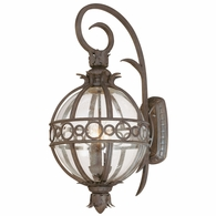 B5003CB Troy Hand-Worked Iron And Aluminum Exterior Campanile 3Lt Wall Lantern Large with Campanile Bronze Finish