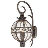 B5004CB Troy Hand-Worked Iron And Aluminum Exterior Campanile 4Lt Wall Lantern Extra Large with Campanile Bronze Finish