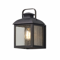 B5081 Troy Solid Aluminum Exterior Chamberlain 1Lt Wall Lantern Small with Vintage Bronze Finish