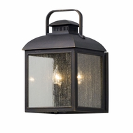 B5082 Troy Solid Aluminum Exterior Chamberlain 3Lt Wall Lantern Medium with Vintage Bronze Finish