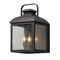B5083 Troy Solid Aluminum Exterior Chamberlain 4Lt Wall Lantern Large with Vintage Bronze Finish