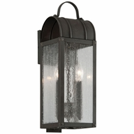 B5091CI Troy Solid Brass Exterior Bostonian 2Lt Wall Lantern Small with Charred Iron Finish