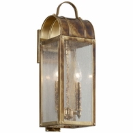 B5091HB Troy Solid Brass Exterior Bostonian 2Lt Wall Lantern Small with Historic Bronze Finish
