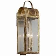 B5092HB Troy Solid Brass Exterior Bostonian 3Lt Wall Lantern Medium with Historic Bronze Finish