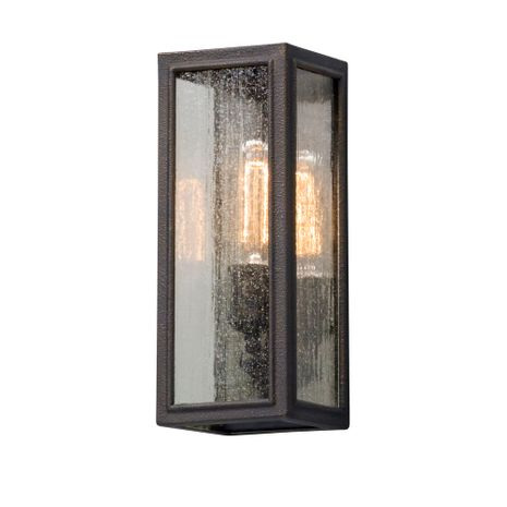 B5101 Troy Solid Aluminum Exterior Dixon 1Lt Wall Lantern Small with Vintage Bronze Finish