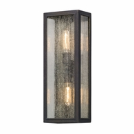 B5103 Troy Solid Aluminum Exterior Dixon 2Lt Wall Lantern Large with Vintage Bronze Finish