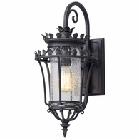 B5131 Troy Hand-Forged Iron And Aluminum Exterior Greystone 1Lt Wall Lantern Small with Forged Iron Finish