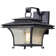 B5141 Troy Hand-Forged Iron And Aluminum Exterior Grammercy 1Lt Wall Lantern Small with Forged Iron Finish