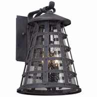 B5162 Troy Solid Aluminum Exterior Benjamin 3Lt Wall Lantern Medium with Vintage Iron Finish
