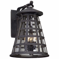B5163 Troy Solid Aluminum Exterior Benjamin 4Lt Wall Lantern Large with Vintage Iron Finish