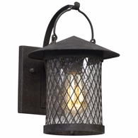 B5171 Troy Hand-Worked Iron Exterior Altamont 1Lt Wall Lantern Small with French Iron Finish